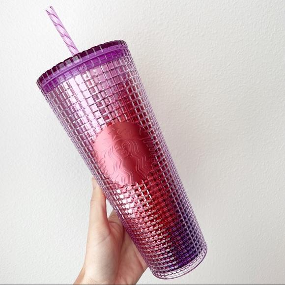 Starbucks Berry Purple Disco Grid Stud Tumbler Cup